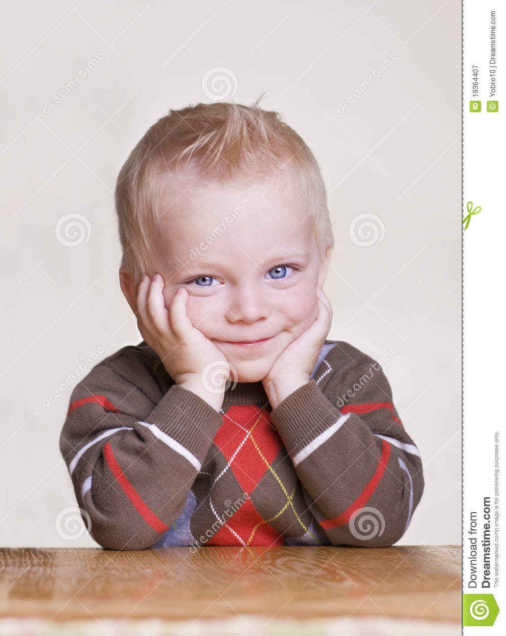 4 Year Boy Bedroom Decorating Ideas: Cute Little Boy Portrait With Bored Expression Stock Image