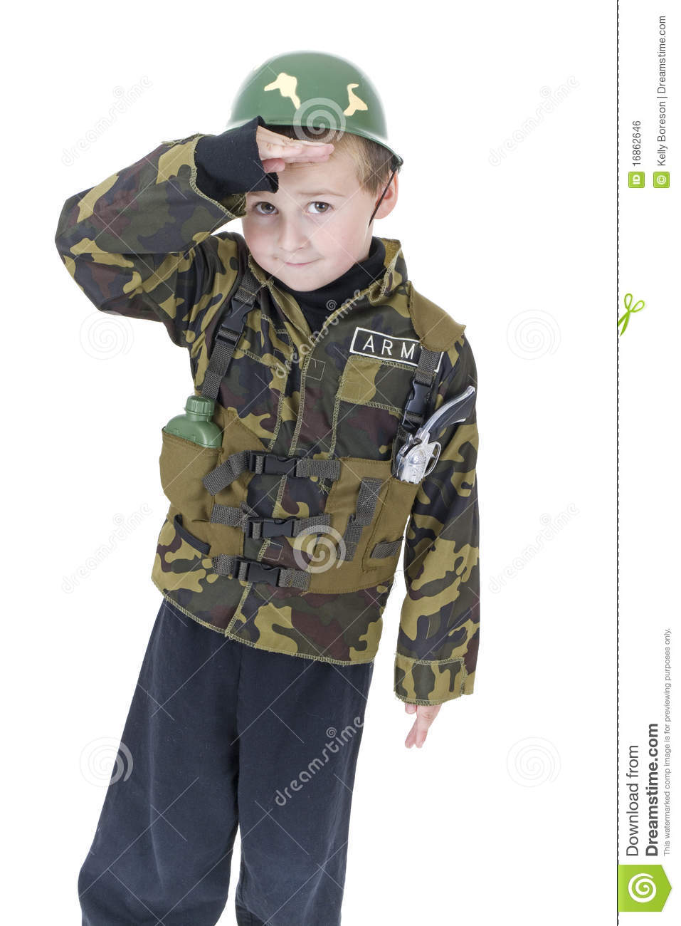 Cute little boy Salutes in Army outfit  sc 1 st  Dreamstime.com & Cute Little Boy Salutes In Army Outfit Stock Photo - Image of ...