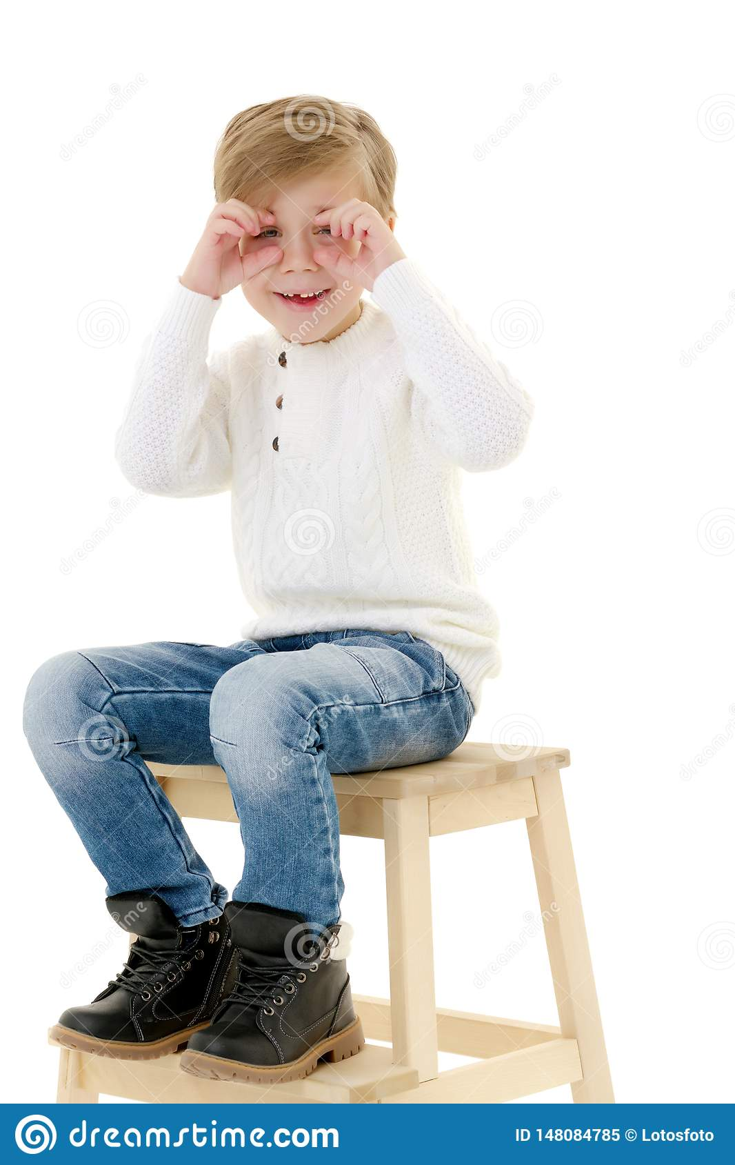 Toddler sitting on potty stock photo. Image of chamber