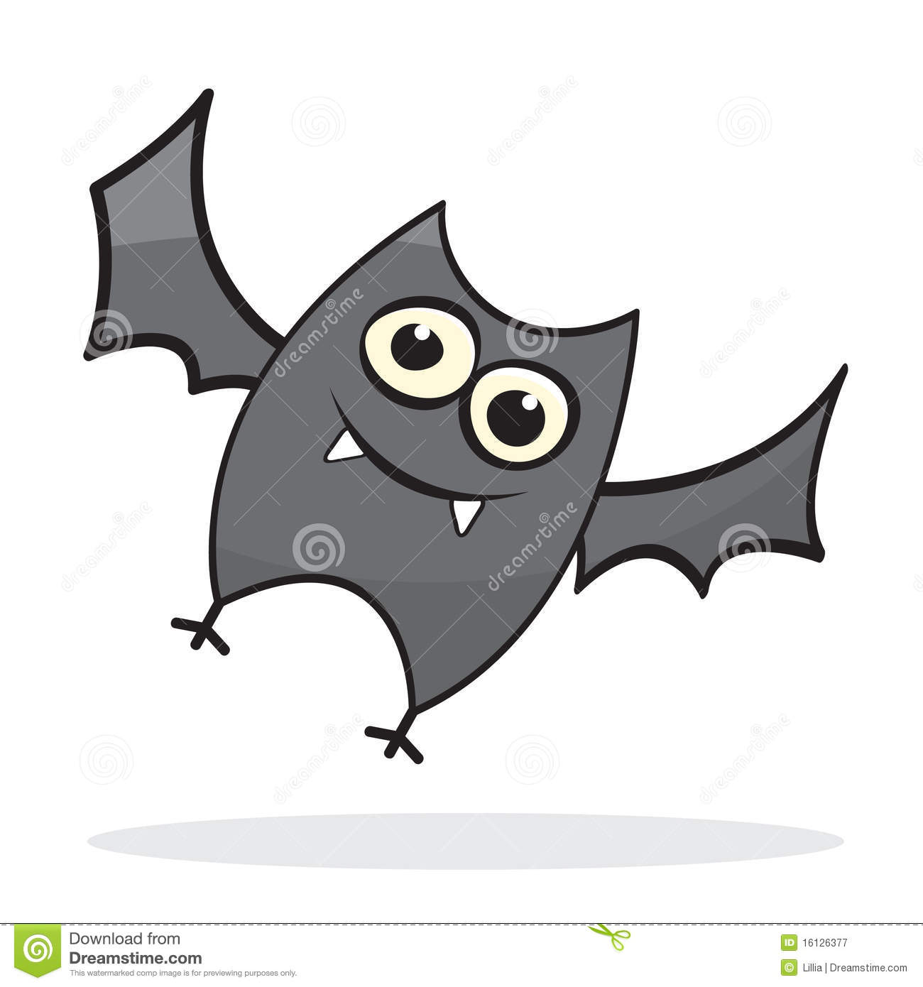 Cute little cartoon bat stock vector illustration of for How to draw a small bat