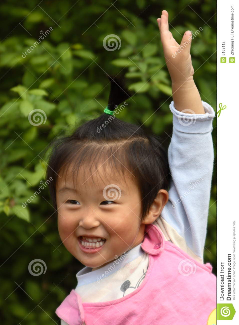 Cute little Chinese girl stock photo. Image of brown, head ...