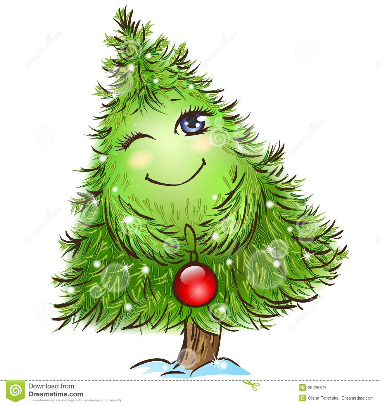 Cute Little Christmas Tree Royalty Free Stock Photography