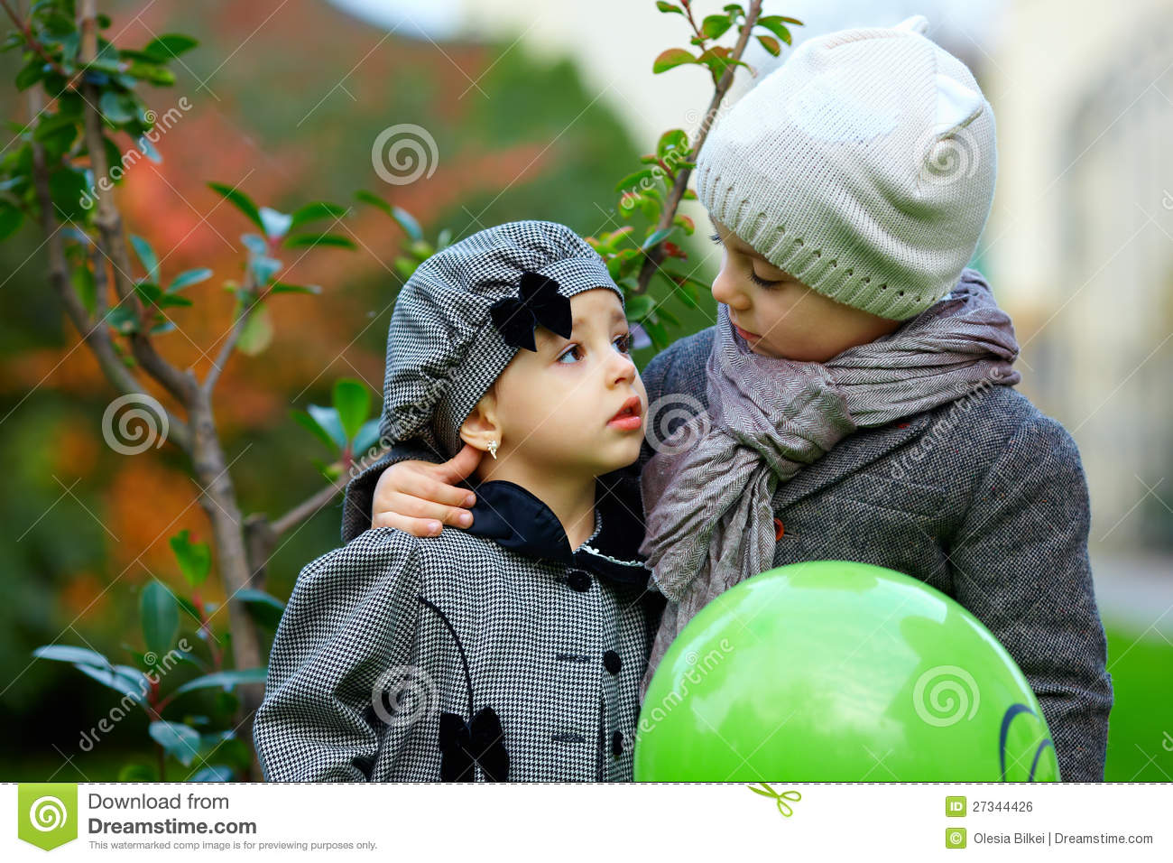 Cute little couple in love stock photo. Image of candid ...