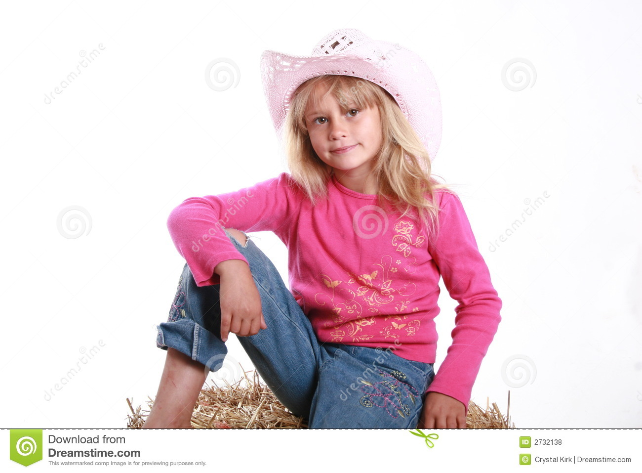 04fbabbd7 Cute little cowgirl stock photo. Image of jeans, child - 2732138