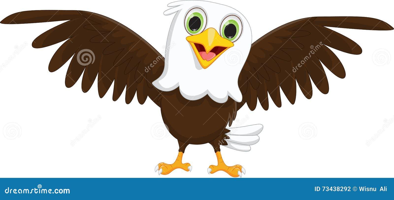 Eagle Cartoon Vector Illustration