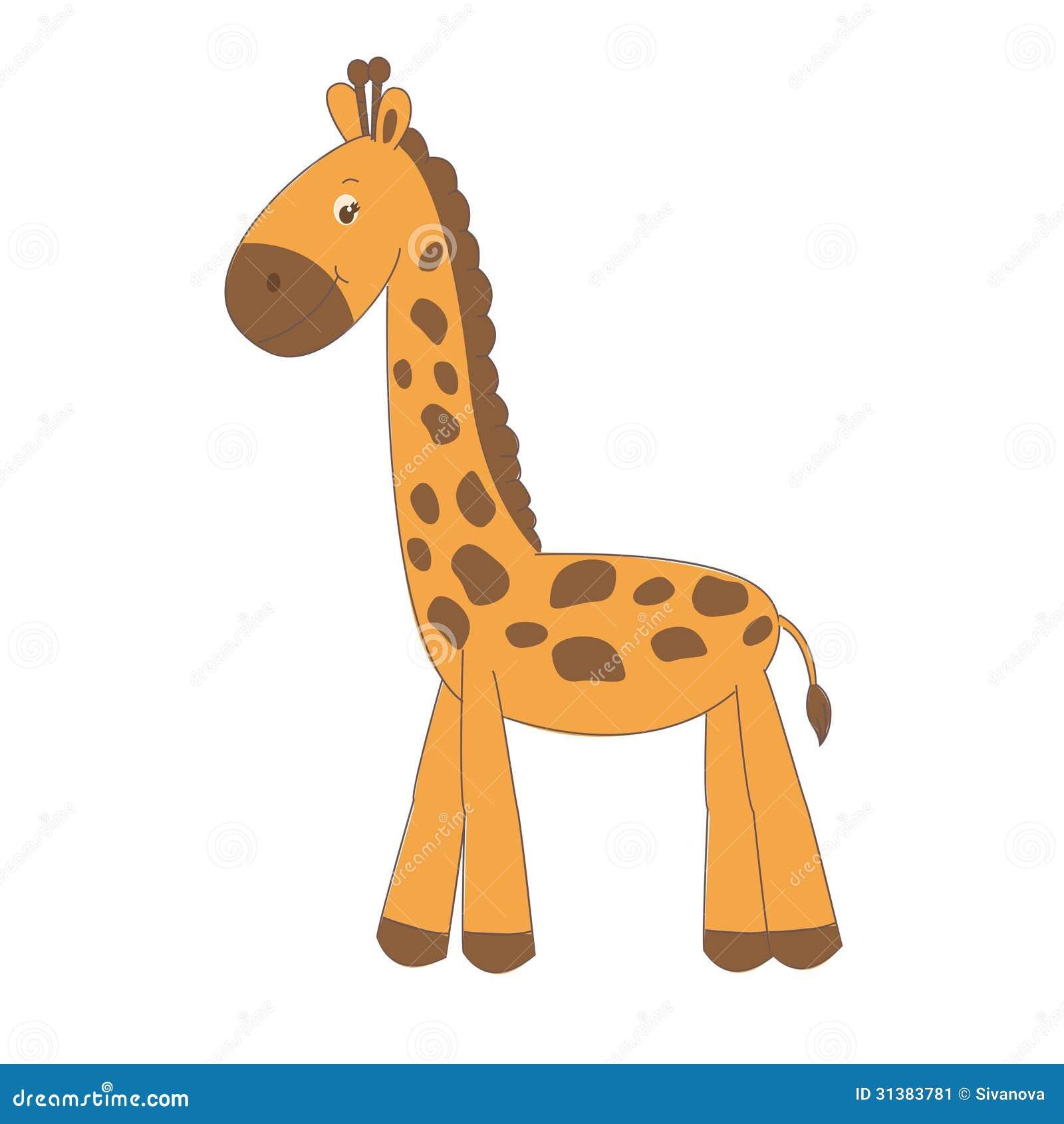Cute Little Giraffe Stock Image Image 31383781