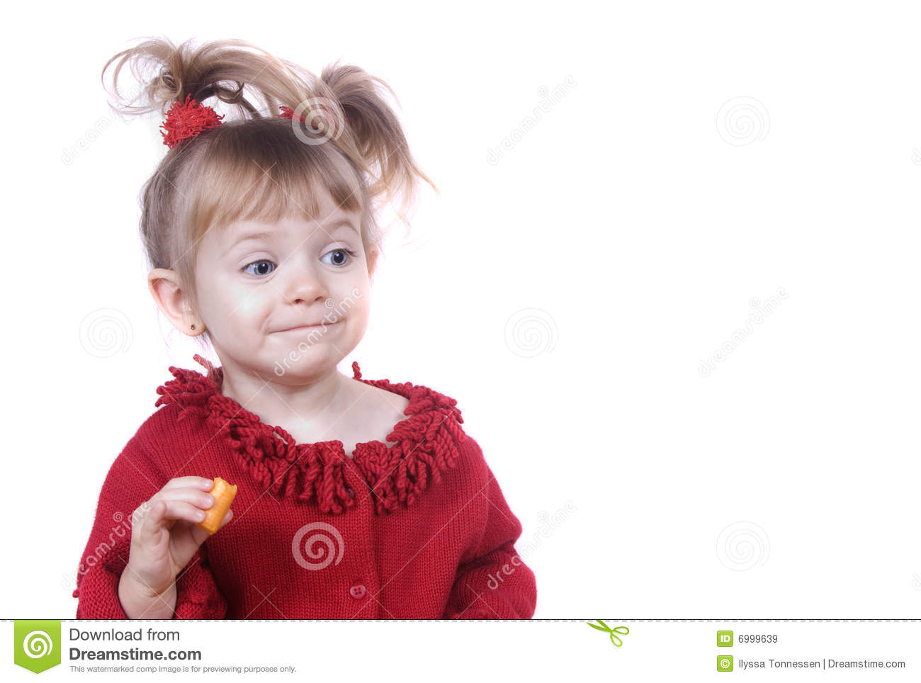 Cute Little Girl Acting Silly Royalty Free Stock Images
