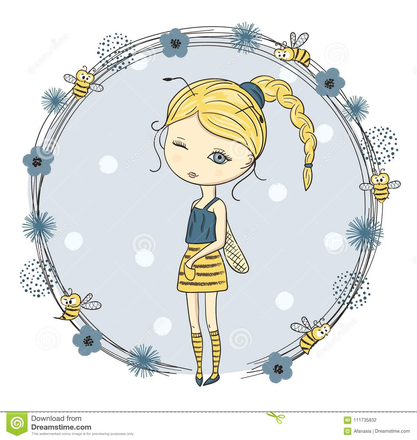 Cute little girl in a bee costume.