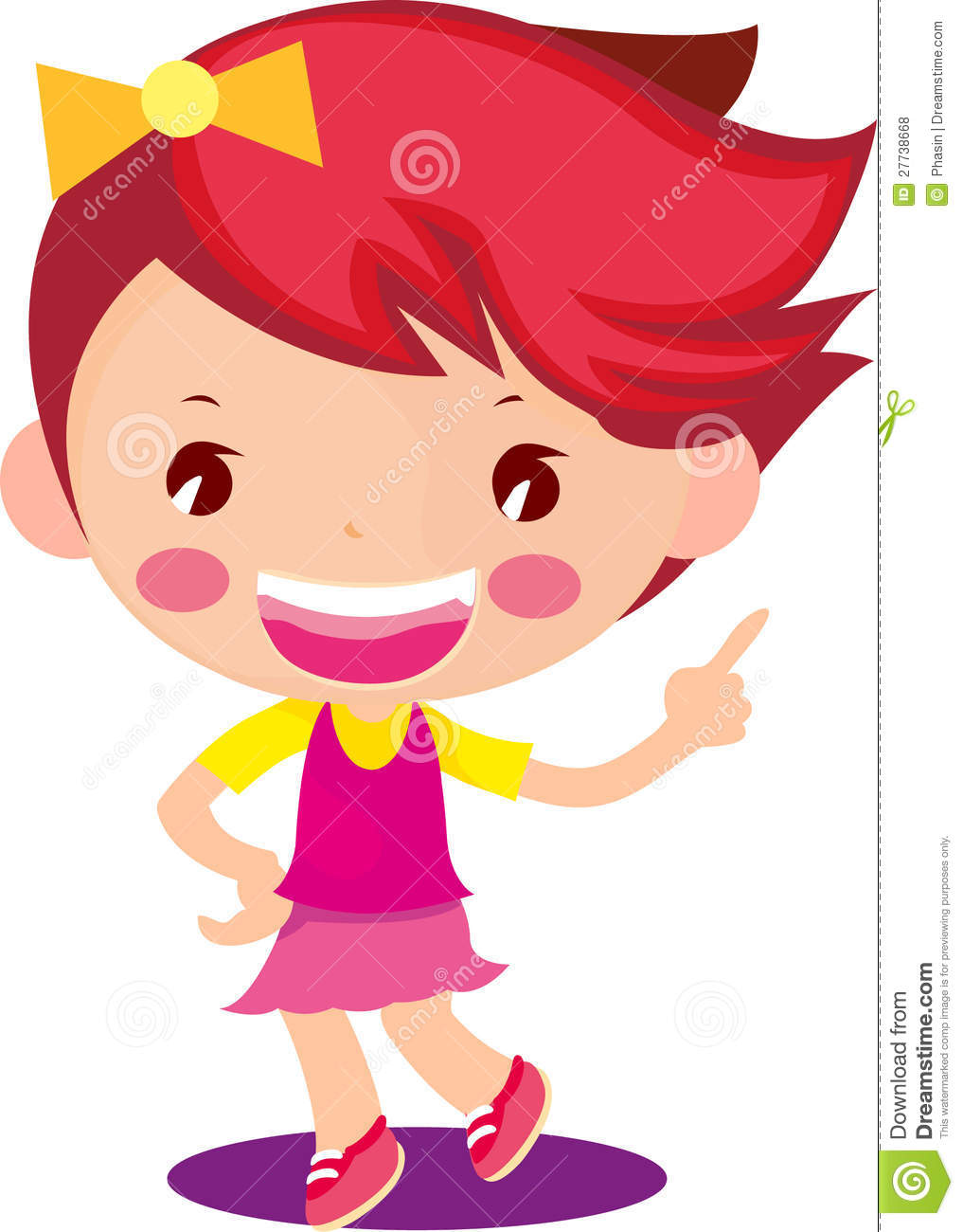 More similar stock images of ` Cute Little Girl Cartoon ...