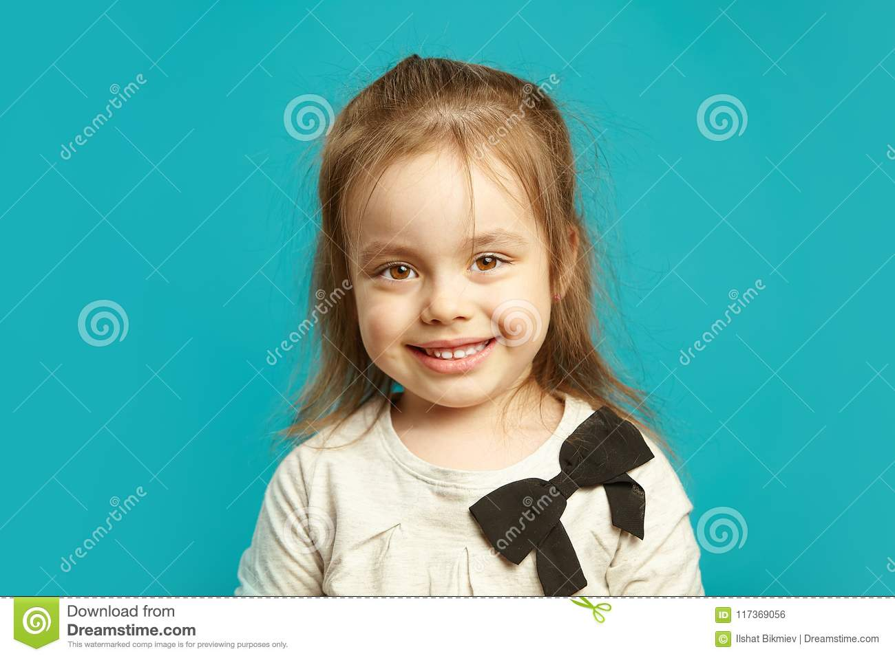 4eda3b6f9 Cute Baby With A Charming Smile. Stock Photo - Image of closeup ...