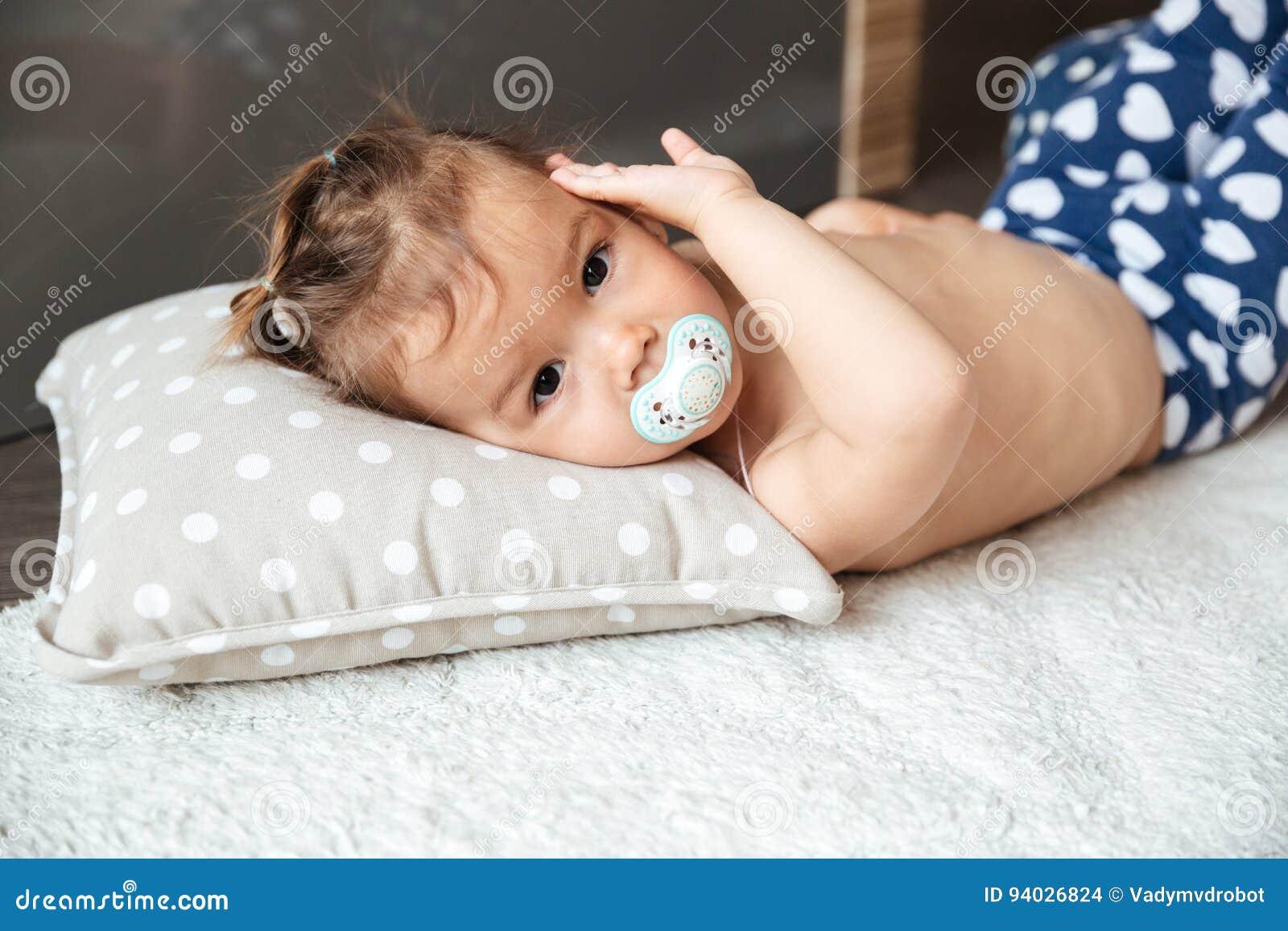 Little girl nipple Royalty-Free Stock Photo