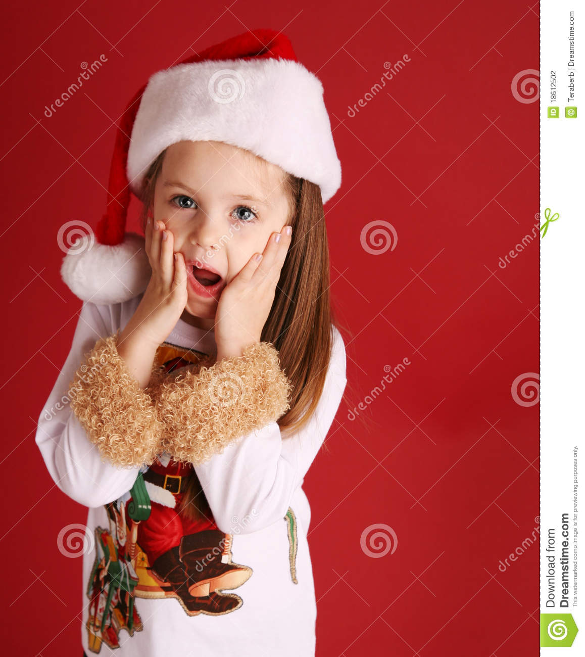 4300003478c9b Cute Little Girl In Christmas Wear Stock Photo - Image of background ...
