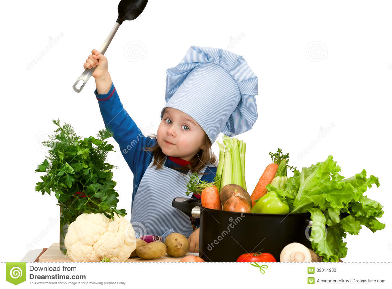 Cute little girl cooking soup stock photo image 33014930 - Stylish cooking ...