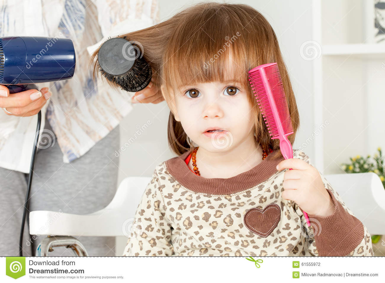 Hair Style Girl Image: Cute Little Girl Hair Style Stock Photo