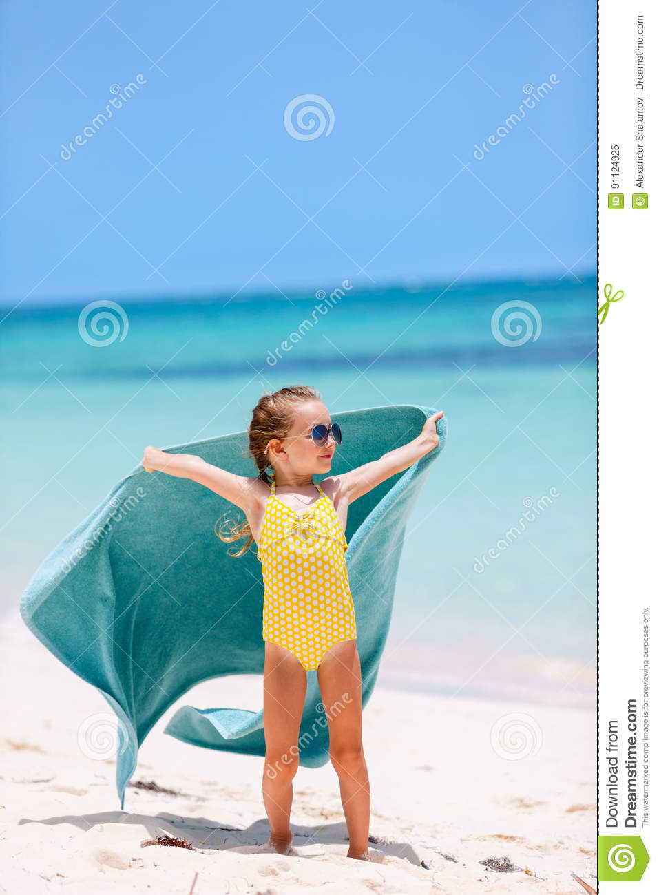 c1b31a237ee Cute Little Girl Having Fun On Beach Vacation Stock Image - Image of ...