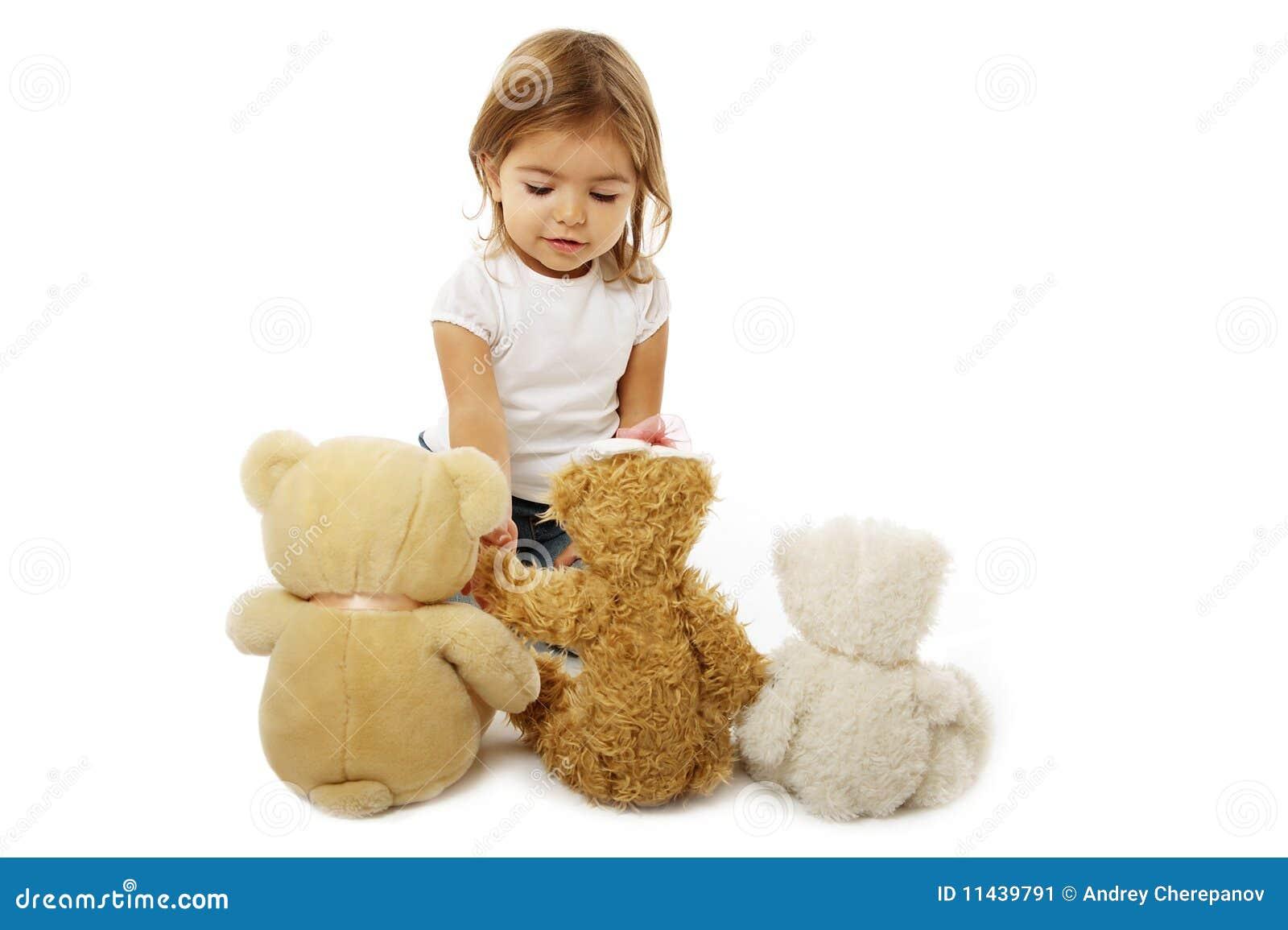 Little Girl Toys : Pin bear dressed as a polar wallpaper black on