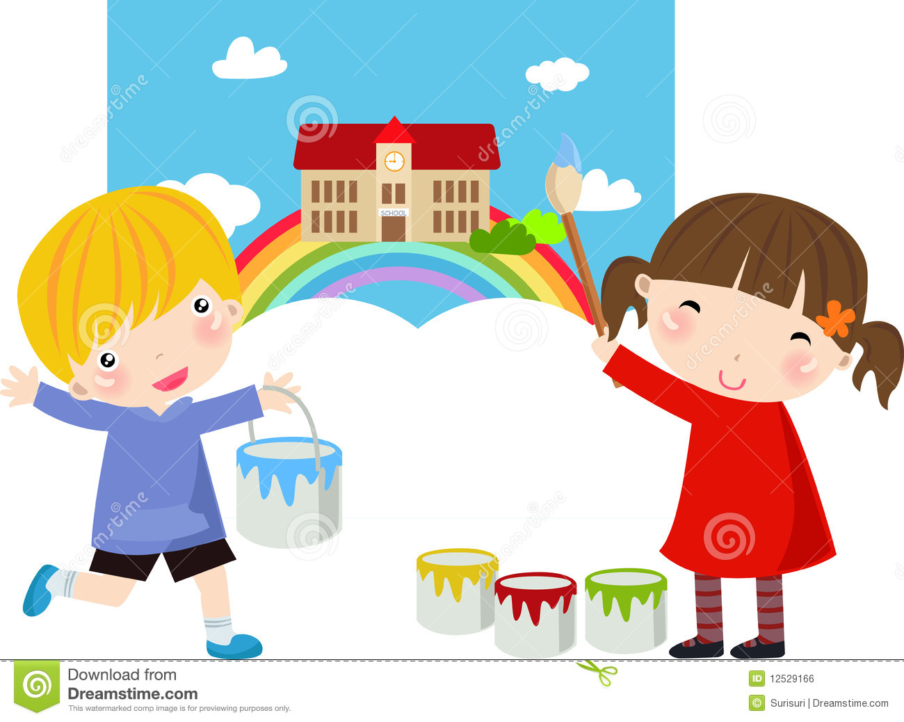 Cute Little Girl Painter Royalty Free Stock Image Image
