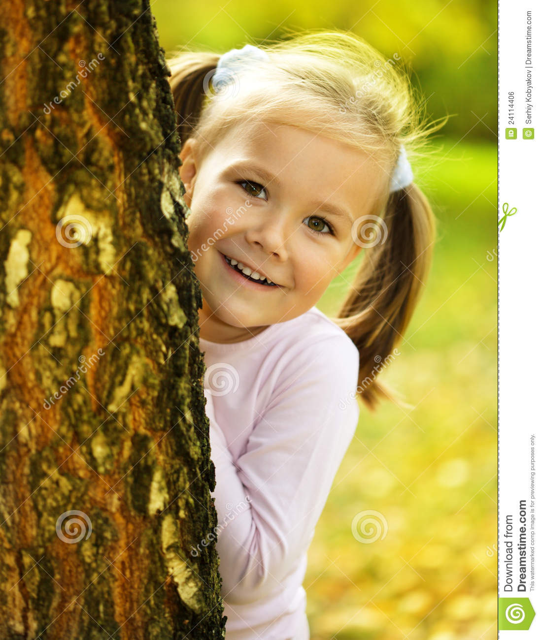 ... Is Playing Hide And Seek Royalty Free Stock Image - Image: 24114406