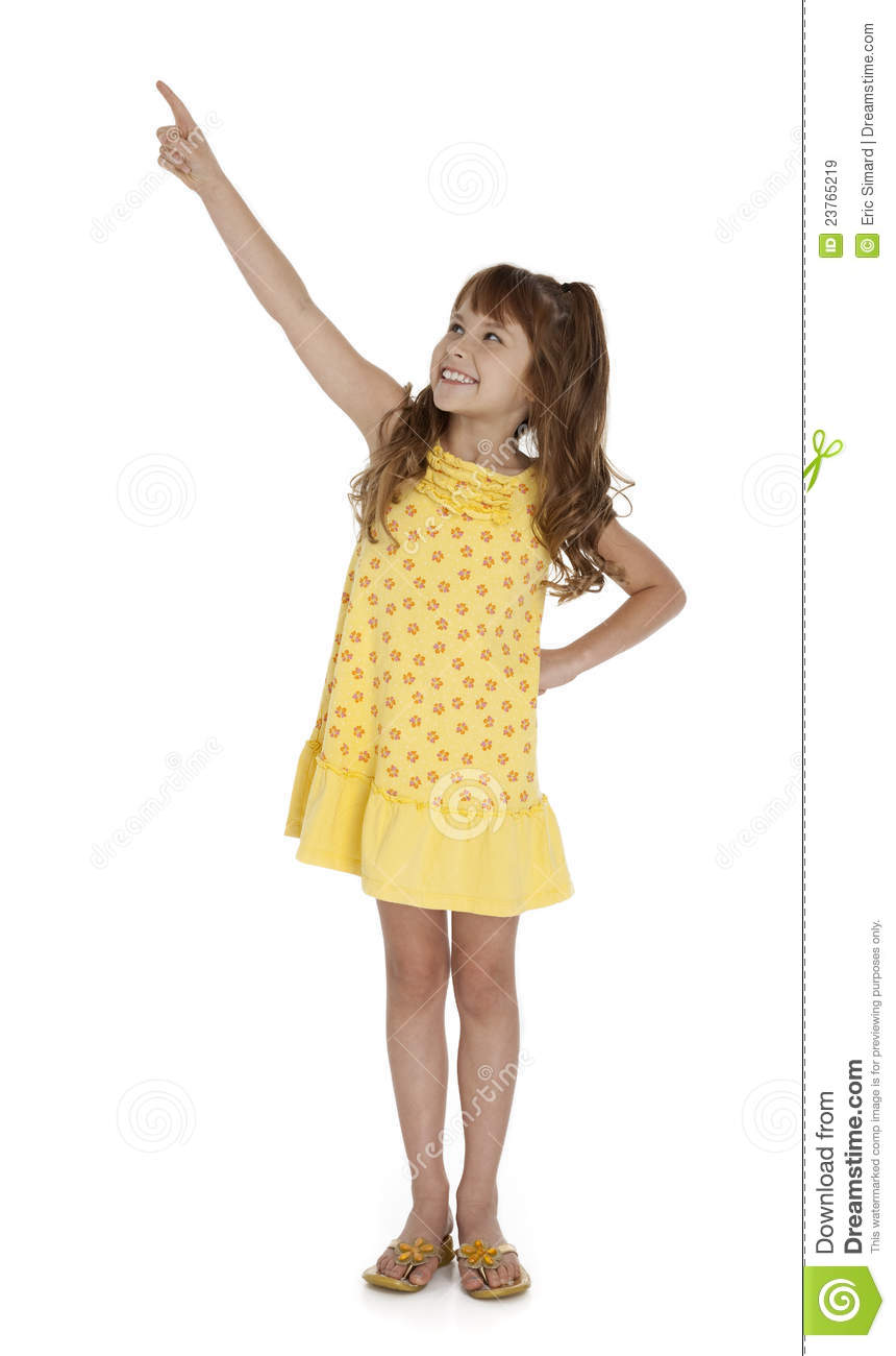 Cute Little Girl Pointing