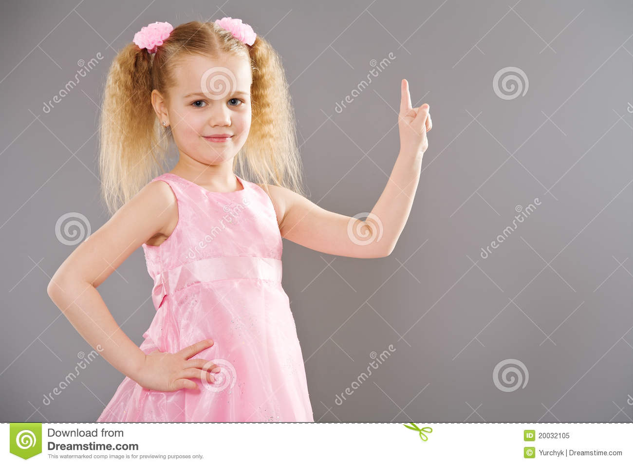 Cute Little Girl Pointing With Finger Stock Image - Image ... Cute Baby Pointing Finger