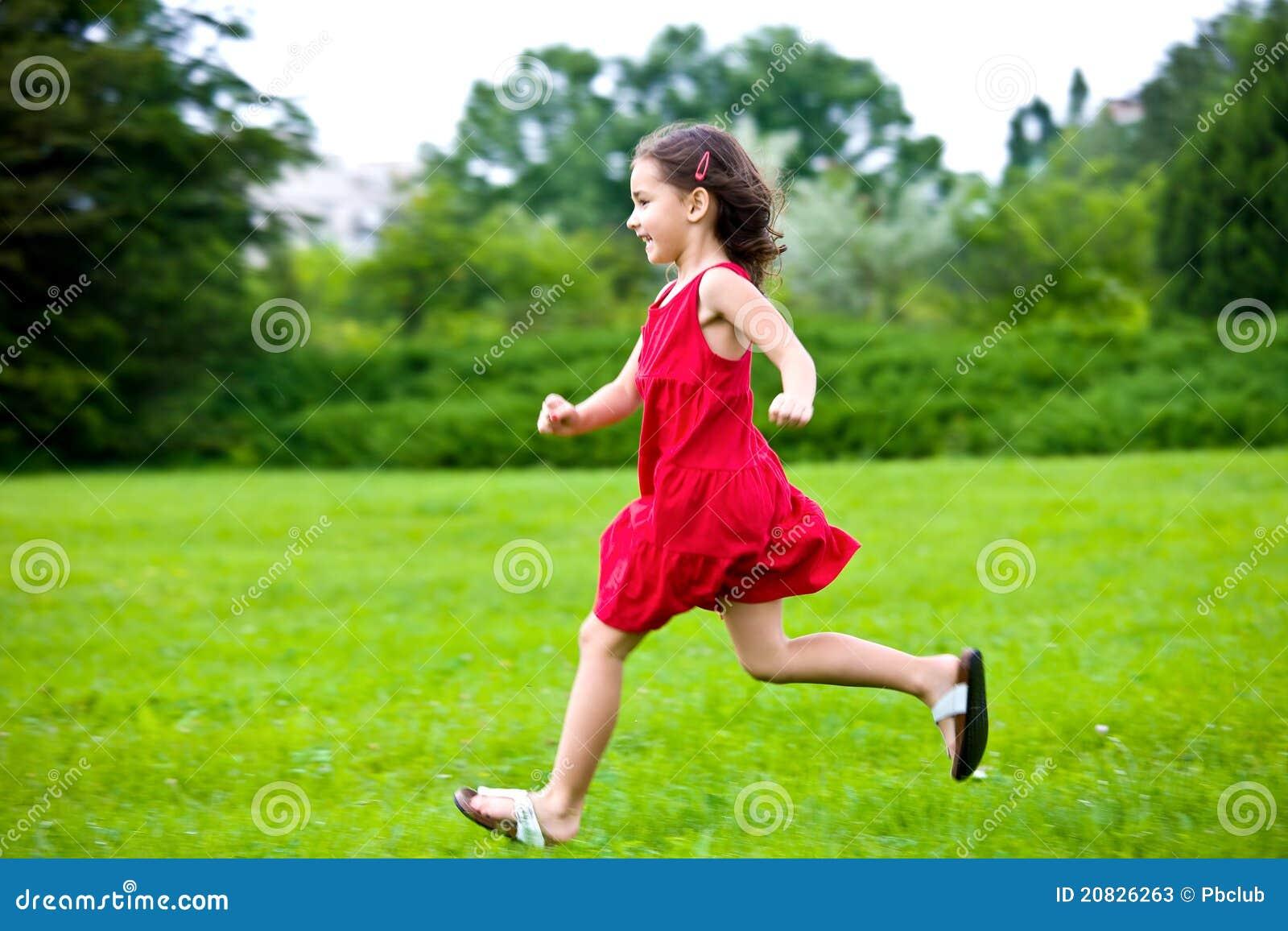 Baby Girl Running