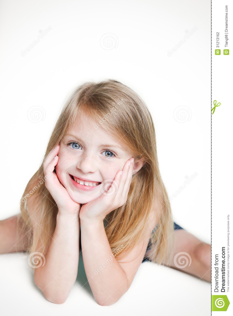 Cute Little Girl Smiling Stock Photography Image 31213162