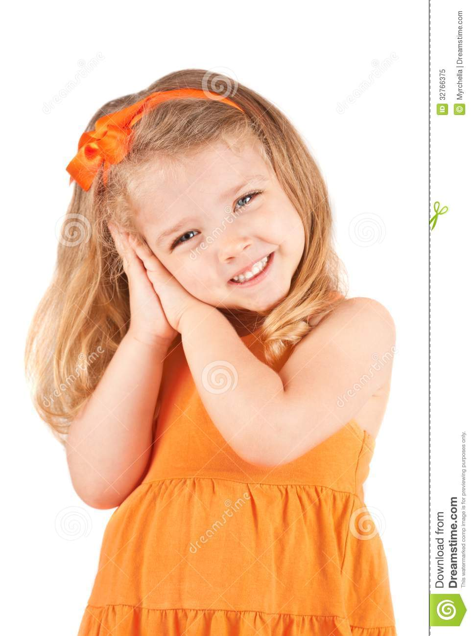 Cute Little Girl Smiling Royalty Free Stock Photo - Image: 32766375