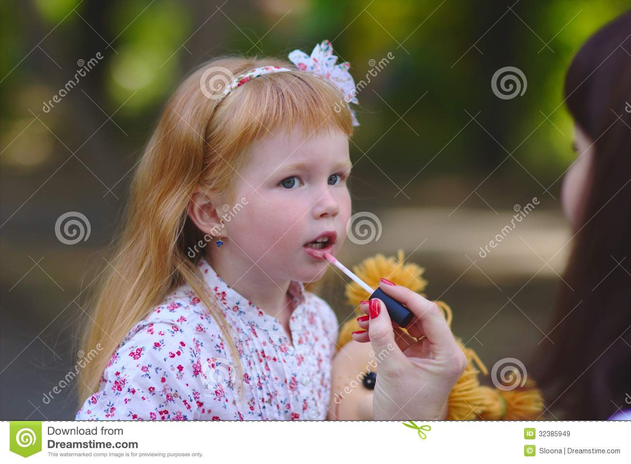 cute little girl in the summer park stock image - image of beauty