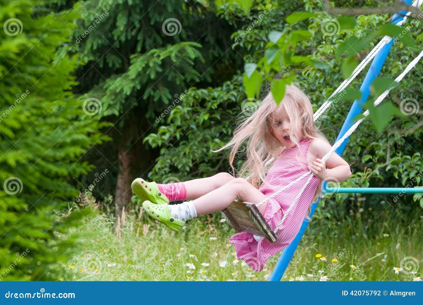 Teen on garden swing gets fucked 6