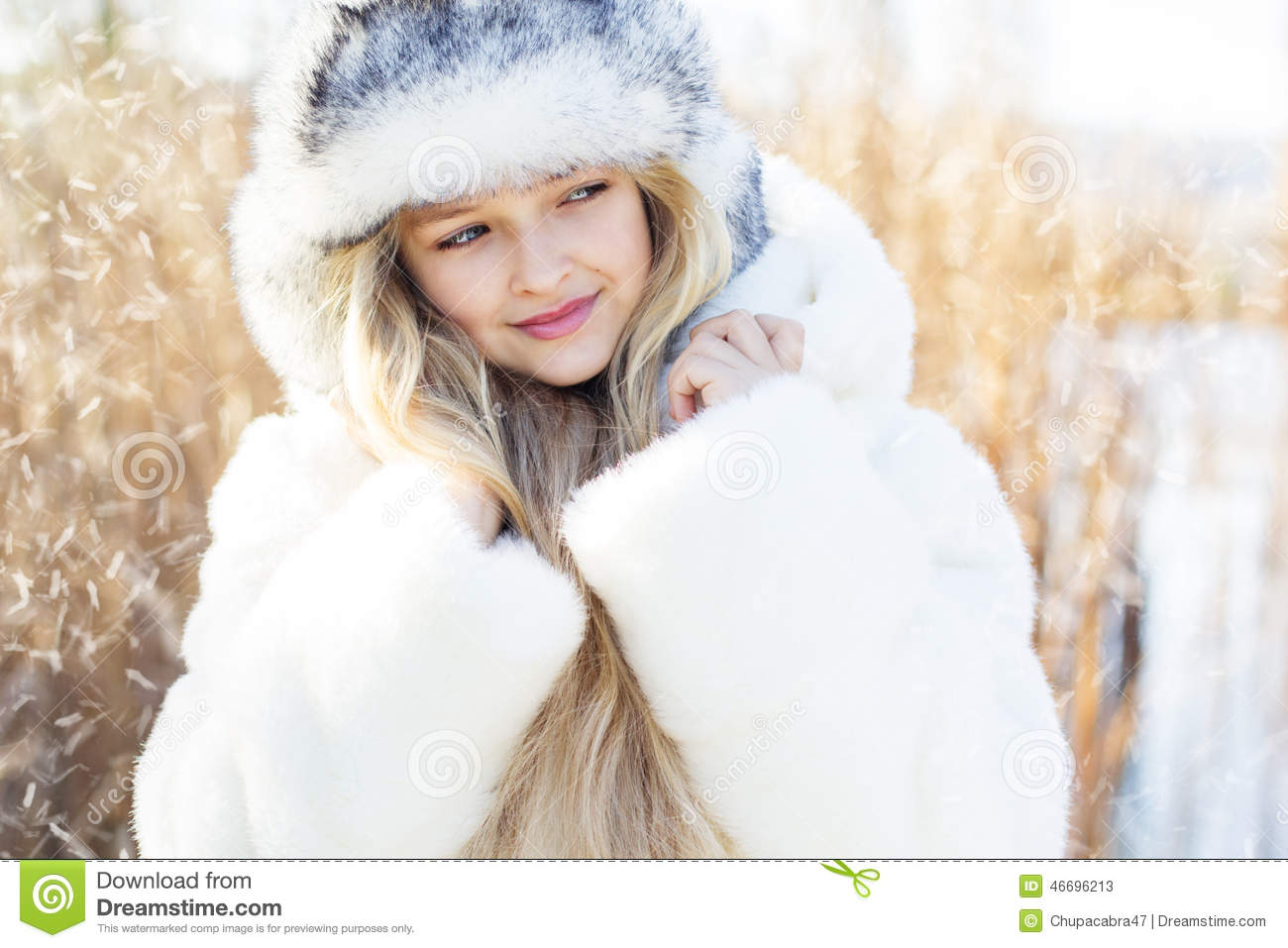 d21c541ee Cute Little Girl In Winter Clothes Outdoors Stock Image - Image of ...