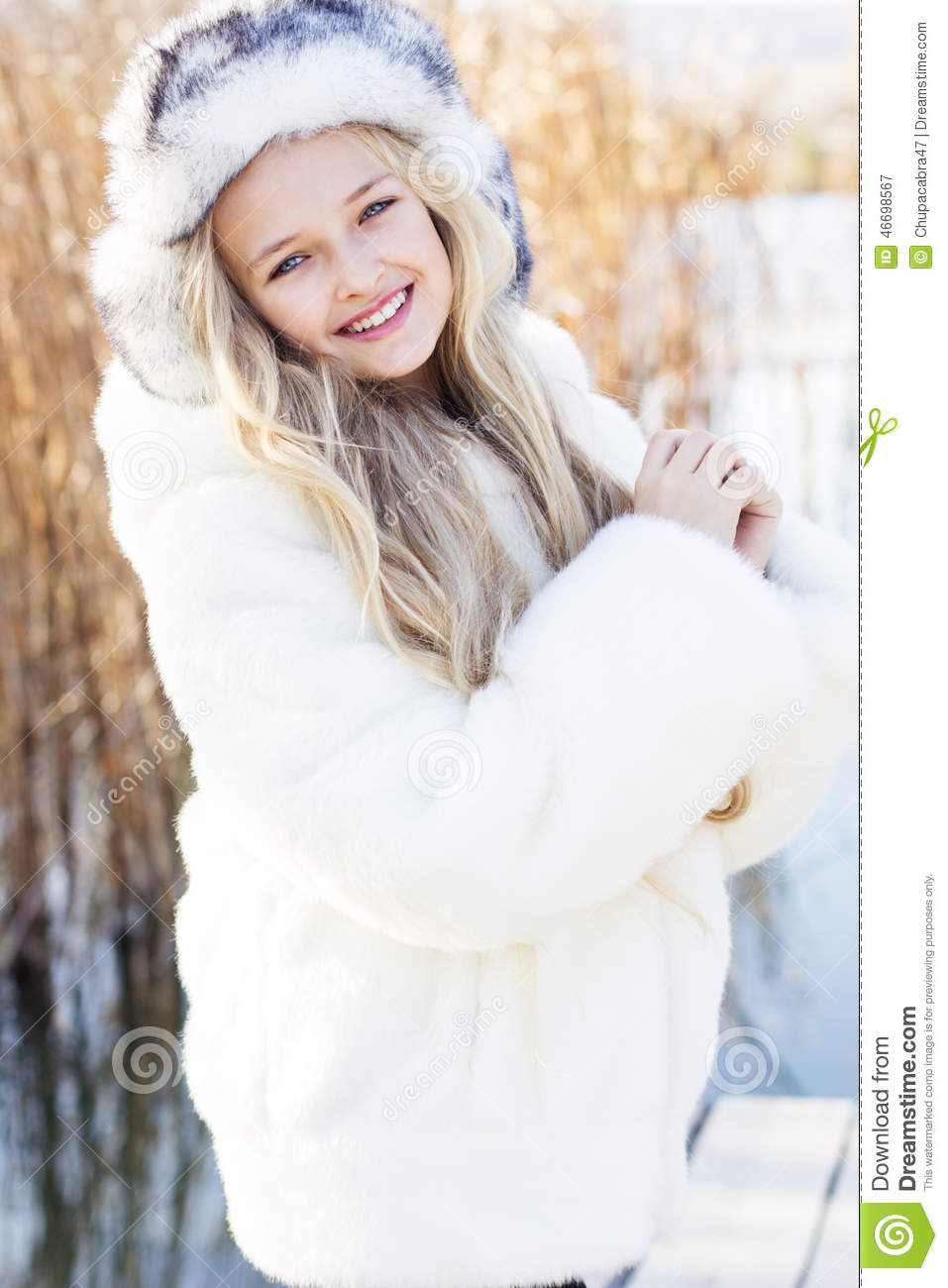 c7624d27a719 Cute Little Girl In Winter Clothes Outdoors Stock Image - Image of ...