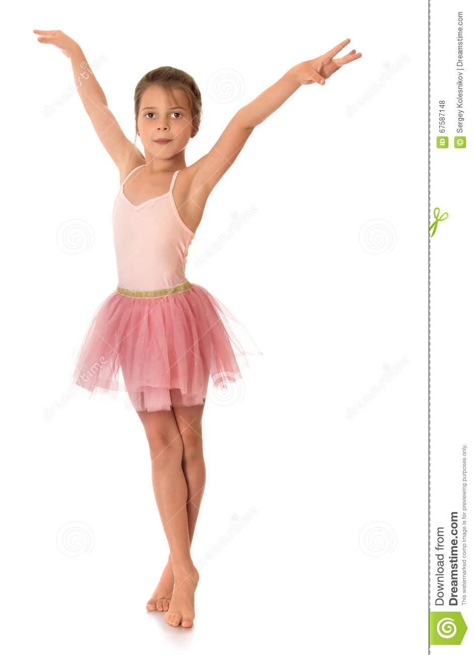 45a2dee47 Cute little gymnast stock photo. Image of isolated