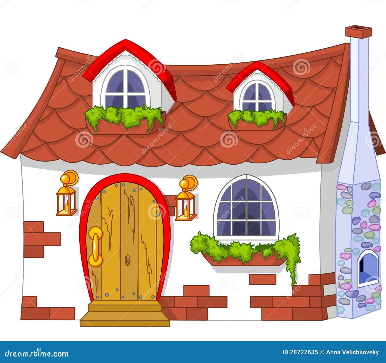 Cute Little House stock vector. Illustration of clipart ...