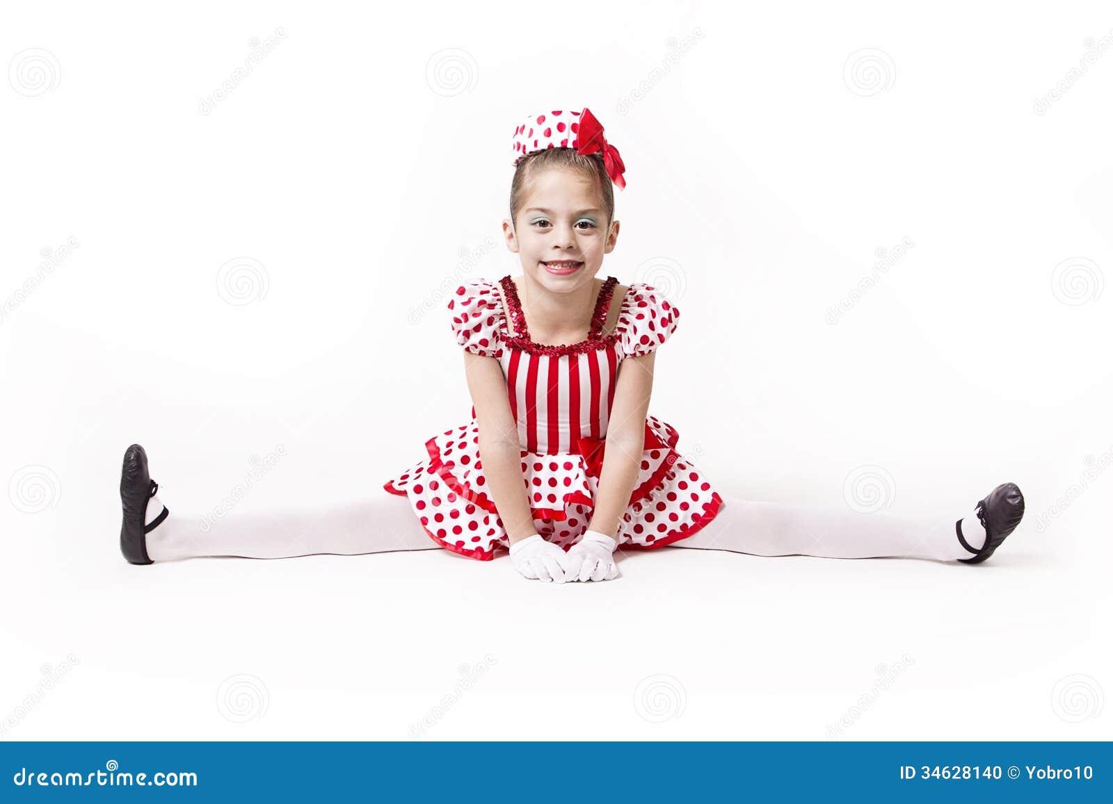 Cute Little Jazz Dancer Girl
