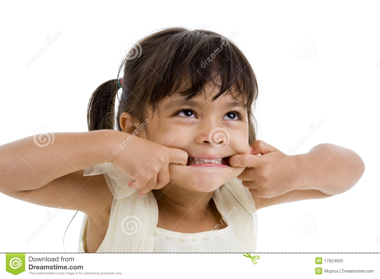 cute little kid making a grimace royalty free stock photo - Little Kid Pictures