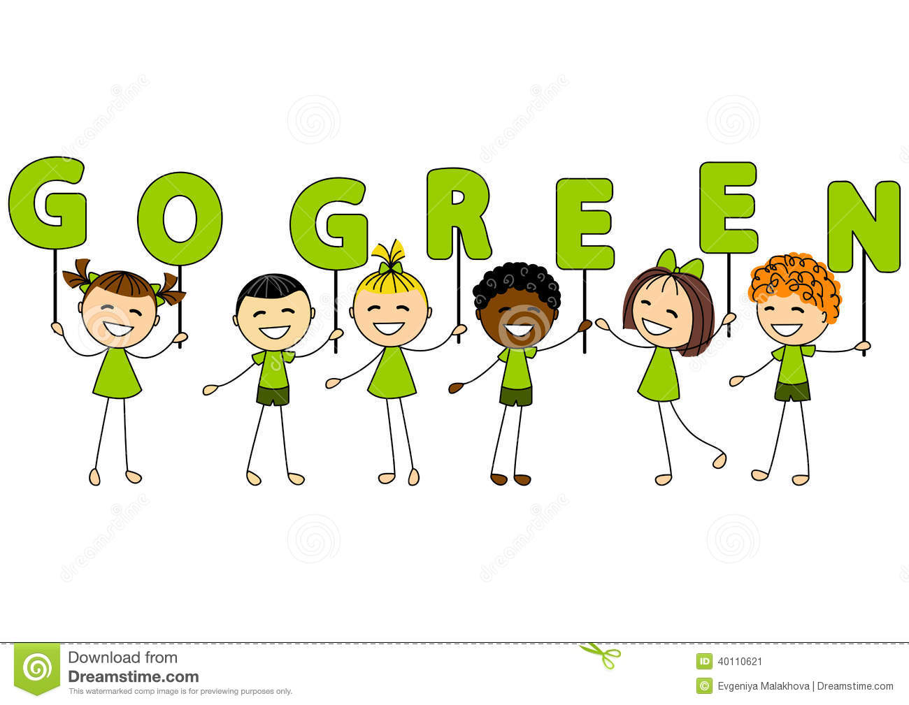 Ecology Kids Stock Vector - Image: 88064133