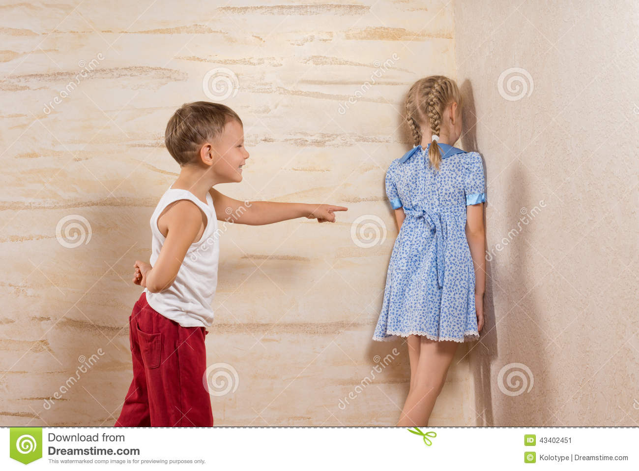 Cute Little Kids Playing At Home Stock Image Image 43402451