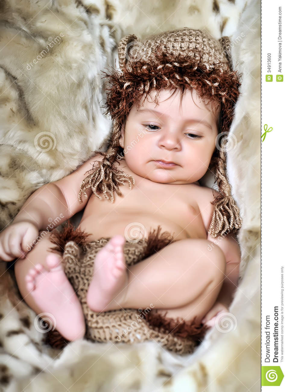 cute little newborn baby boy stock photo - image of content, curly