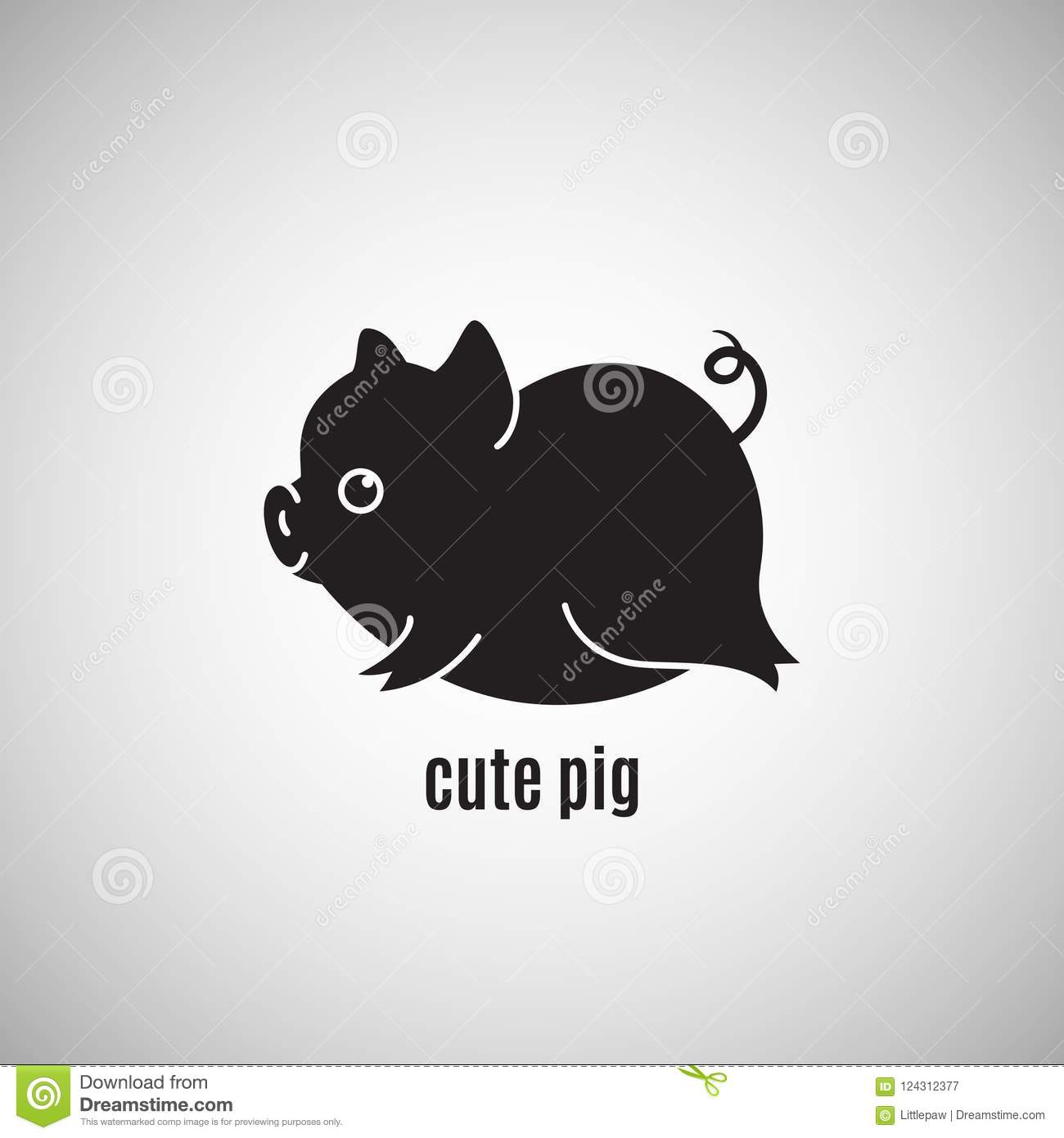 cute little pig icon new year 2019 chinese horoscope symbol v