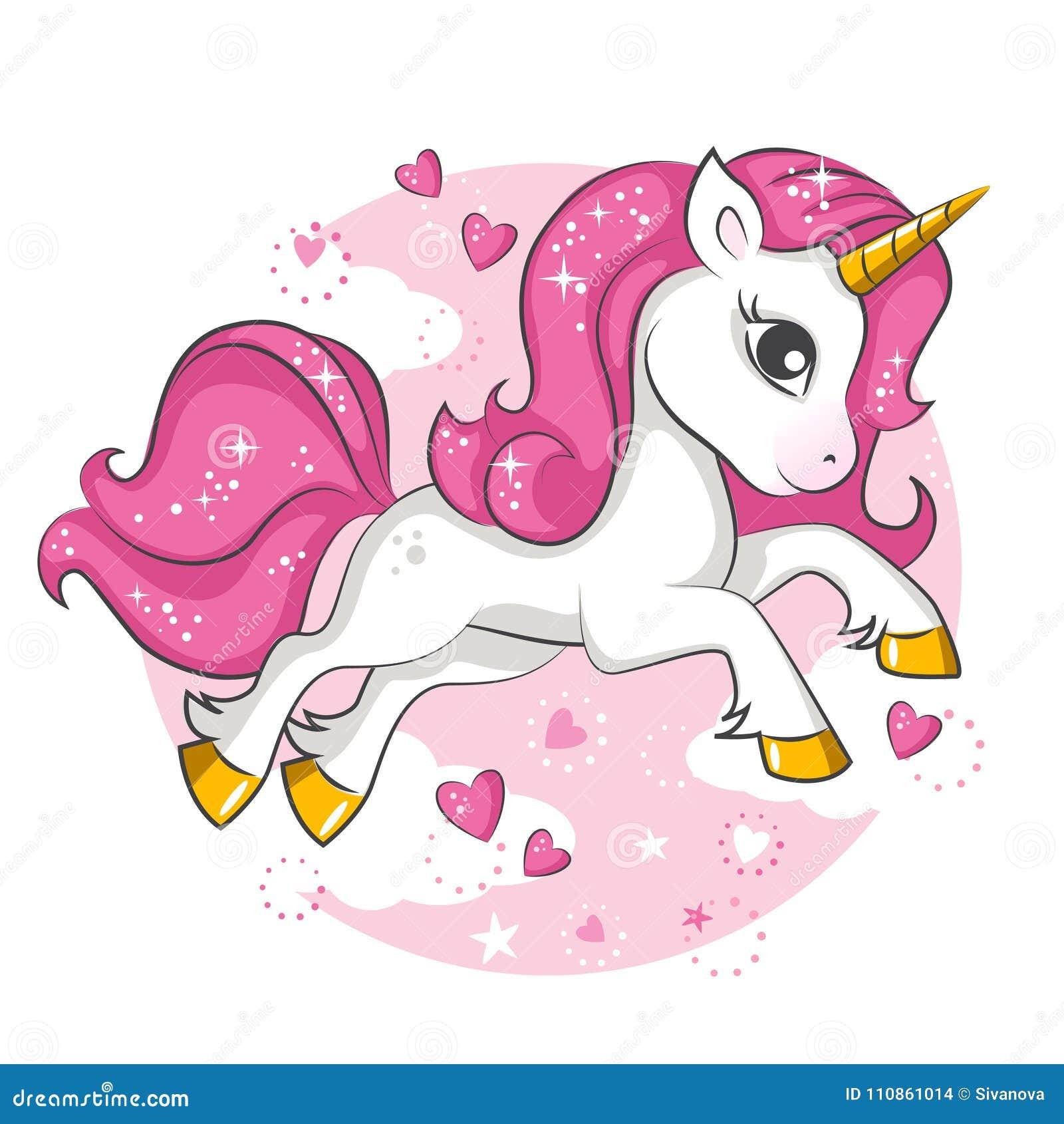 Little Pink Unicorn. Design For Children. Stock Vector ...