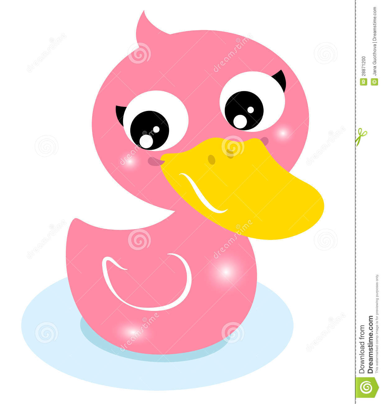 Cute little pink rubber duck stock photo image 28871200