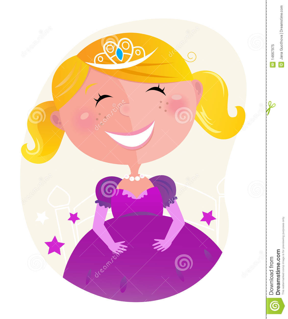 Jana Only Sweet Girls: Cute Little Princess In Pink Dress With Tiara Royalty Free