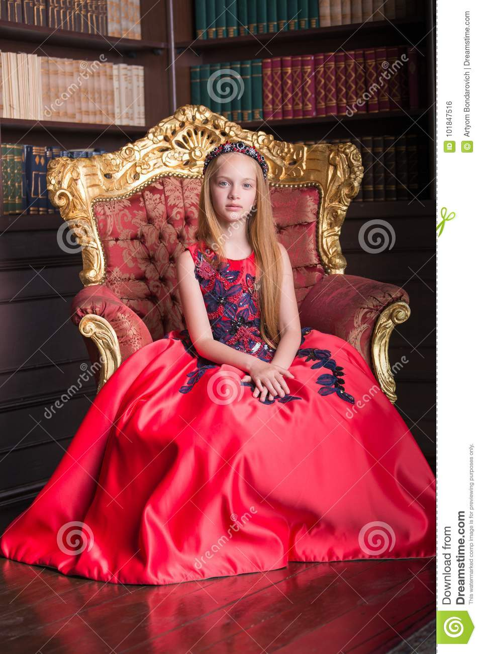 Download Cute Little Redhead Girl Wearing An Antique Princess Dress Or Costume. Stock Photo -  sc 1 st  Dreamstime.com & Cute Little Redhead Girl Wearing An Antique Princess Dress Or ...