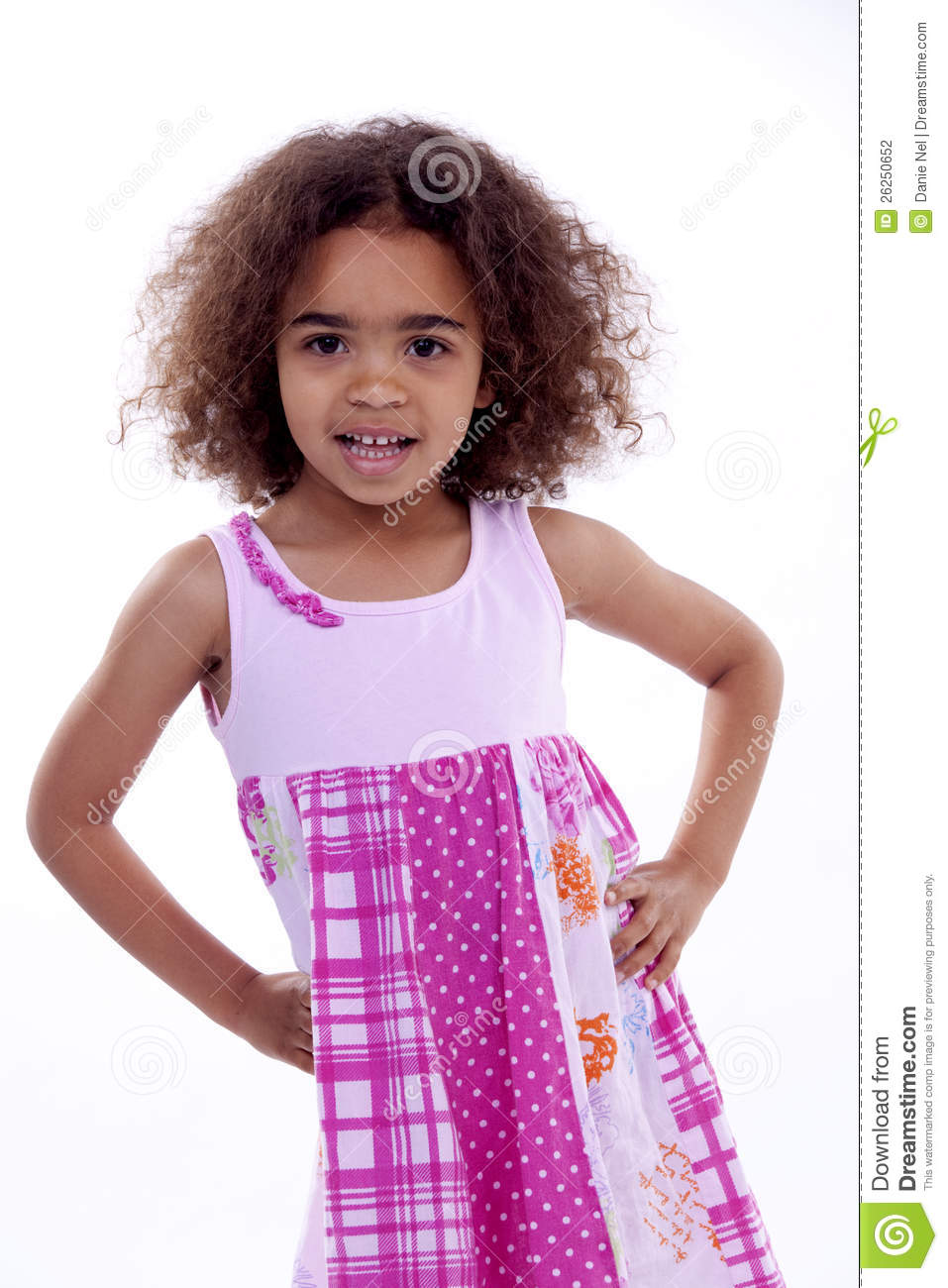 Cute Little South African Girl Stock Photography Image