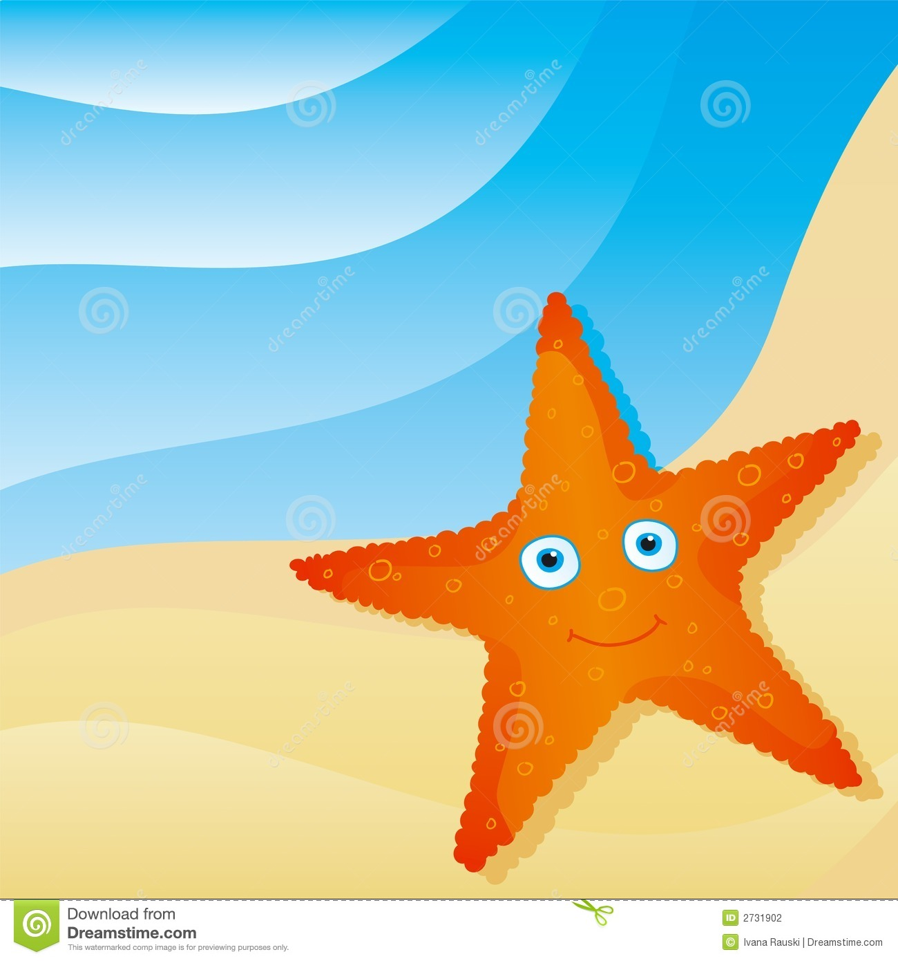 Cute Little Starfish Stock Photography
