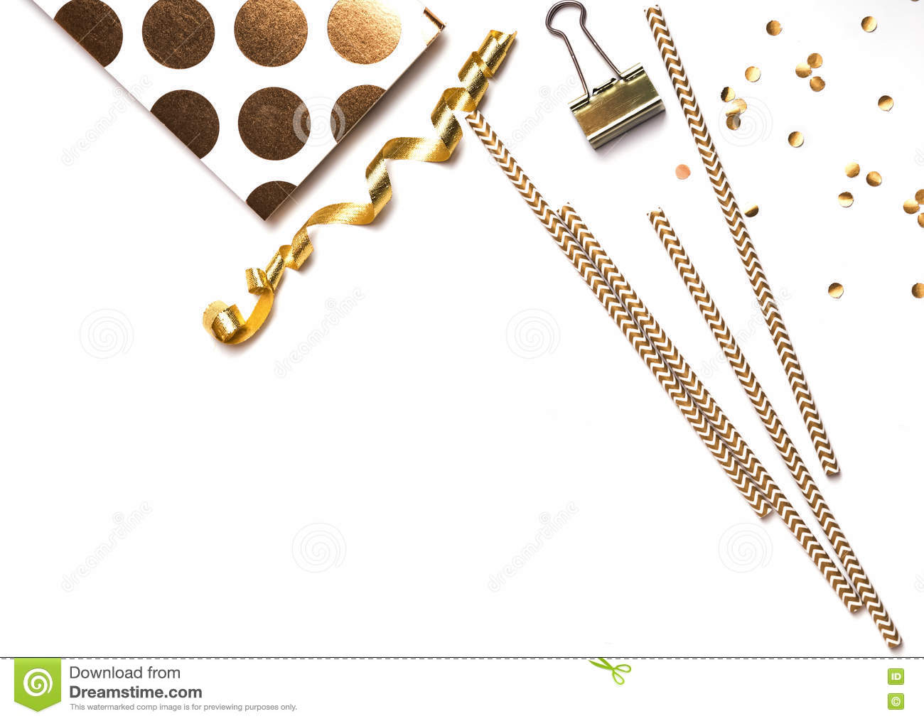 Cute Little Things Of Golden Color Stock Image Image Of Pencil
