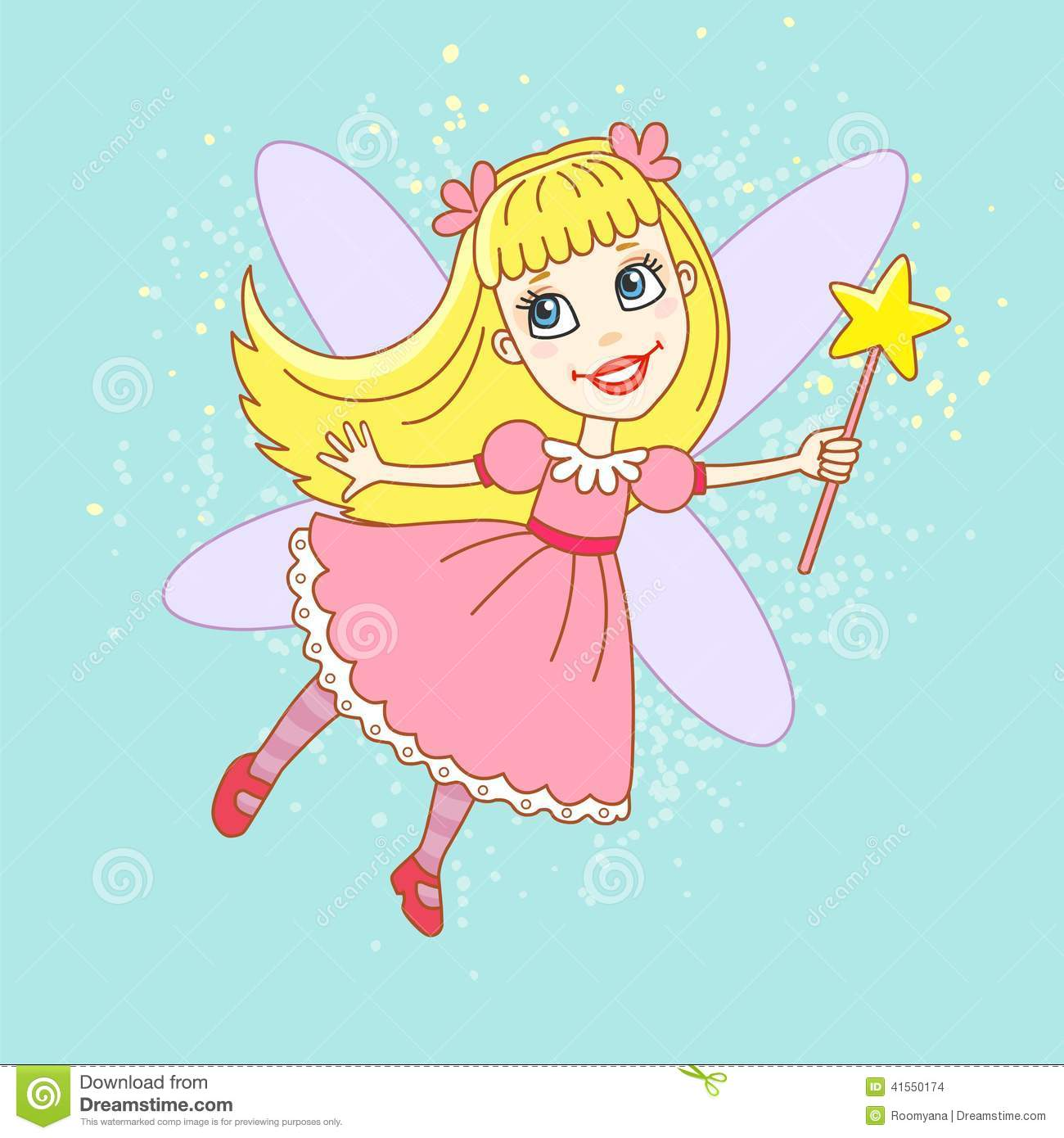cute pink fairy royalty free stock photos image 36076698