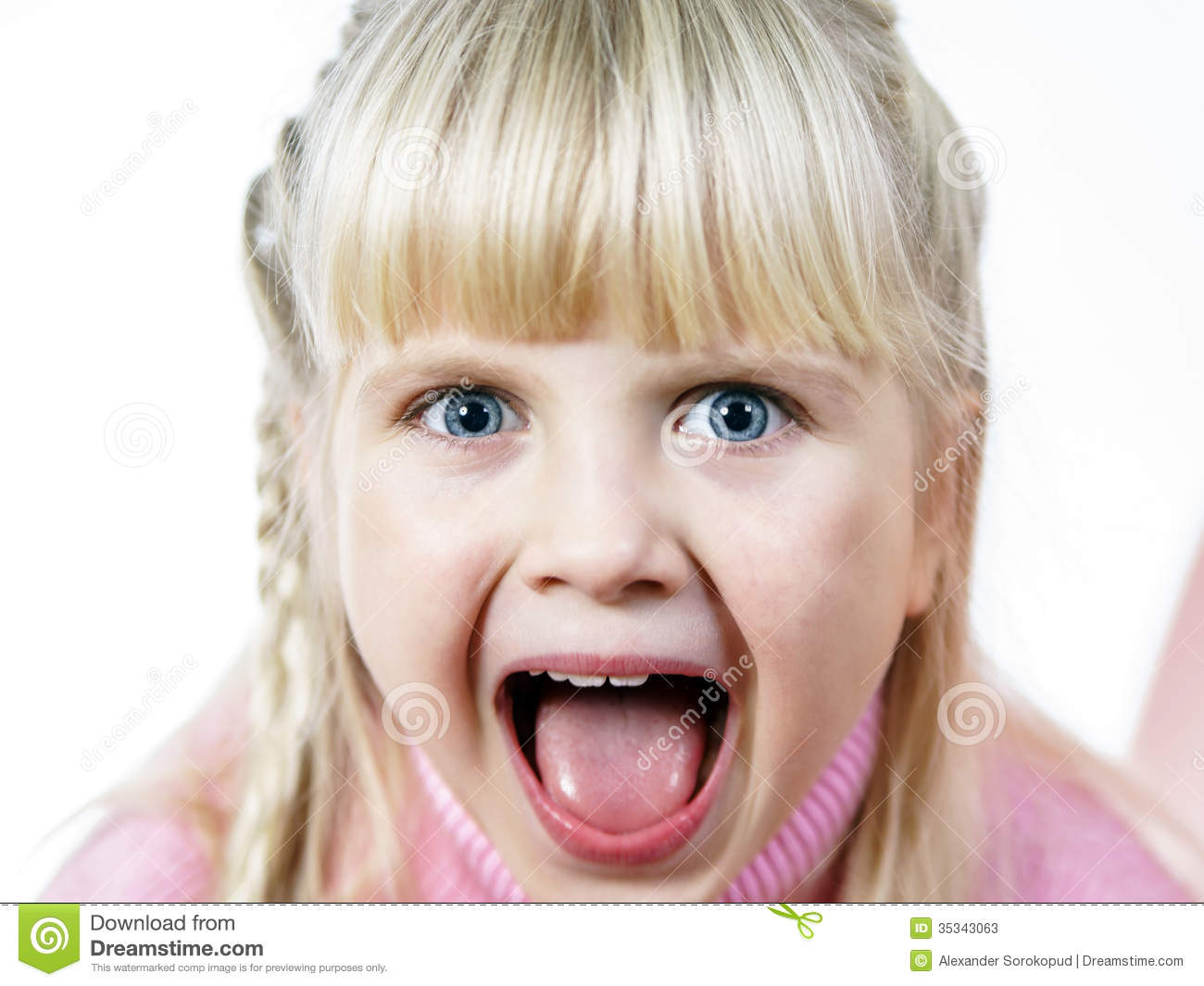 Cute Little Towhead Girl Bawling Out Stock Photos - Image: 35343063