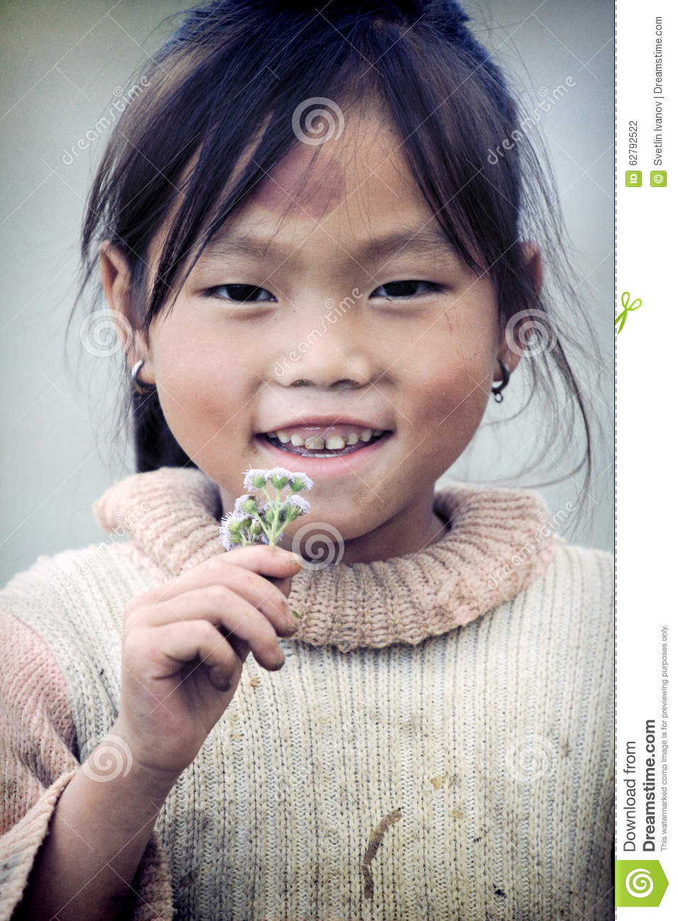 Cute Little Vietnamese Girl Editorial Photography - Image ...