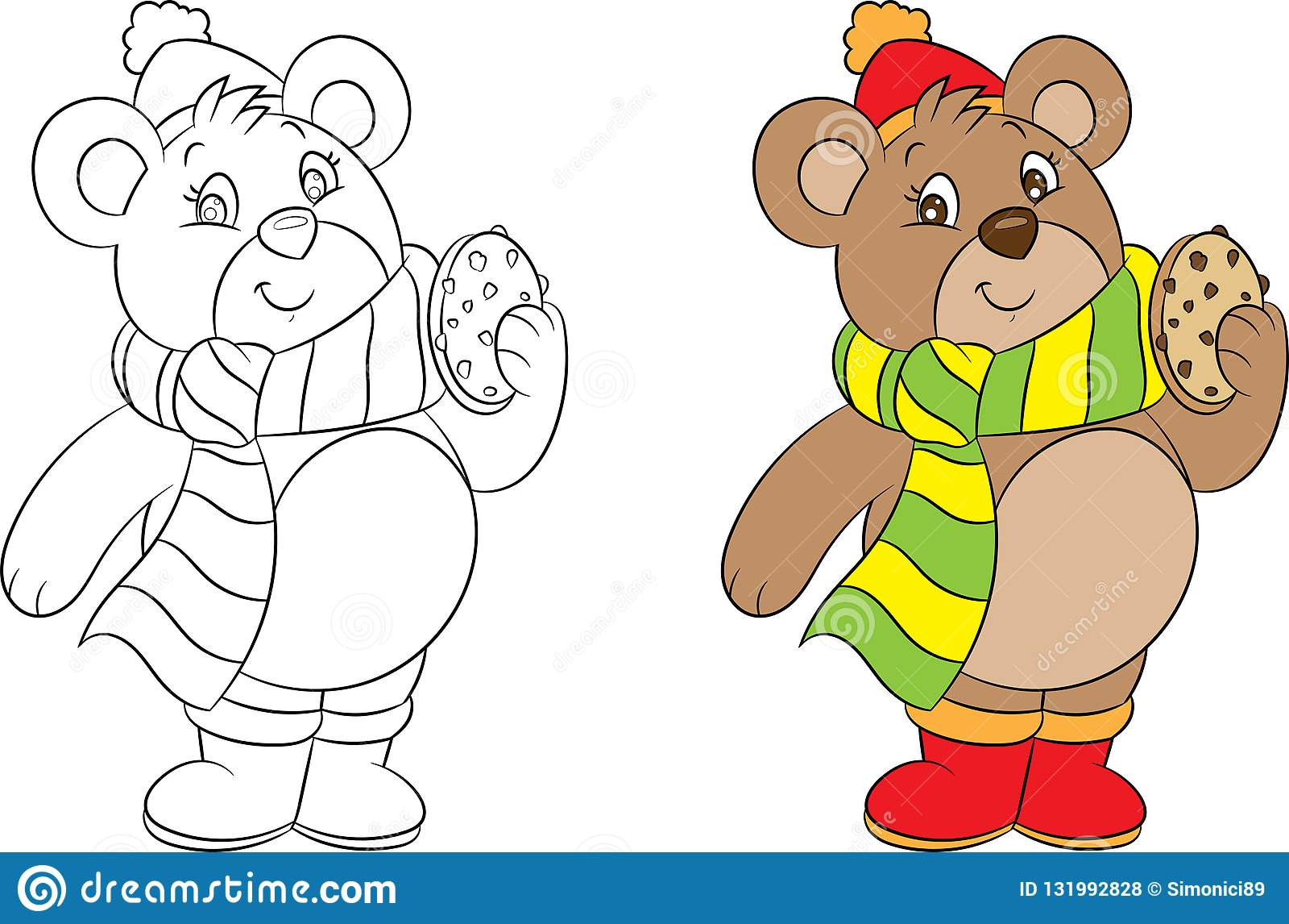 Bear Coloring Book Stock Illustrations 2 722 Bear Coloring Book Stock Illustrations Vectors Clipart Dreamstime